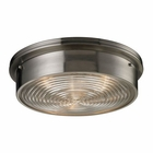 ELK Flushmounts 3 Light Flushmount in Brushed Nickel EK-11463-3