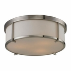 ELK Flushmounts 3 Light Flushmount in Brushed Nickel EK-11465-3