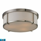 ELK Flushmounts 3 Light Flushmount in Brushed Nickel - Led EK-11465-3-LED