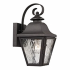 ELK Forged Brookridge Collection 1 Light Outdoor Sconce in Charcoal EK-47100-1