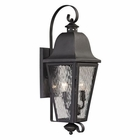 ELK Forged Brookridge Collection 2 Light Outdoor Sconce in Charcoal EK-47101-2