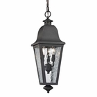 ELK Forged Brookridge Collection 3 Light Outdoor Pendant in Charcoal EK-47104-3