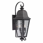 ELK Forged Brookridge Collection 3 Light Outdoor Sconce in Charcoal EK-47102-3