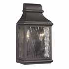 ELK Forged Jefferson Collection 2 Light Outdoor Sconce in Charcoal EK-47070-2