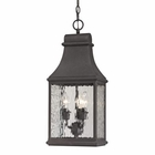 ELK Forged Jefferson Collection 3 Light Outdoor Pendant in Charcoal EK-47074-3