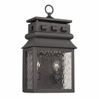 ELK Forged Lancaster Collection 2 Light Outdoor Sconce in Charcoal EK-47061-2
