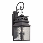 ELK Forged Lancaster Collection 2 Light Outdoor Sconce in Charcoal EK-47063-2