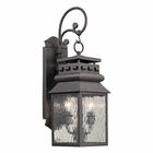 ELK Forged Lancaster Collection 2 Light Outdoor Sconce in Charcoal EK-47065-2
