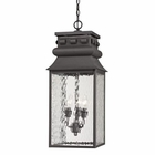 ELK Forged Lancaster Collection 3 Light Outdoor Pendant in Charcoal EK-47066-3