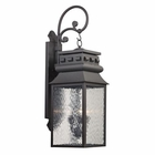 ELK Forged Lancaster Collection 3 Light Outdoor Sconce in Charcoal EK-47064-3