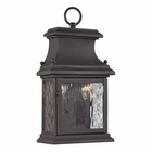 ELK Forged Provincial Collection 2 Light Outdoor Sconce in Charcoal EK-47050-2