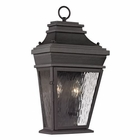 ELK Forged Provincial Collection 2 Light Outdoor Sconce in Charcoal EK-47052-2