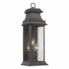 ELK Forged Provincial Collection 3 Light Outdoor Sconce in Charcoal EK-47051-3