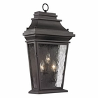 ELK Forged Provincial Collection 3 Light Outdoor Sconce in Charcoal EK-47053-3
