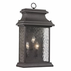 ELK Forged Provincial Collection 3 Light Outdoor Sconce in Charcoal EK-47054-3