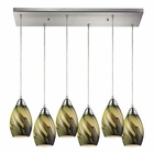 ELK Formations 6 Light Pendant in Satin Nickel EK-31133-6RC-PLN