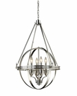 ELK Four Light Chandelier Hemispheres EK-10192