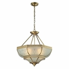ELK French Damask Collection 4 Light Pendant in Brushed Brass EK-22007-4