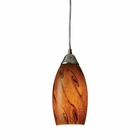 ELK Galaxy 1-Light Pendant in Brown and Satin Nickel Finish EK-20001-1BG