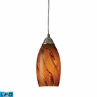 ELK Galaxy 1-Light Pendant in Brown and Satin Nickel Finish - Led EK-20001-1BG-LED