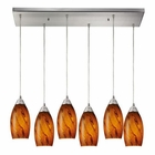 ELK Galaxy 6 Light Pendant in Satin Nickel EK-20001-6RC-BG