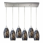 ELK Galaxy 6 Light Pendant in Satin Nickel EK-20001-6RC-SG
