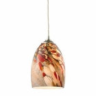 ELK Garden Breeze 1 Light Pendant in Satin Nickel EK-31538-1