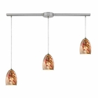 ELK Garden Breeze 3 Light Pendant in Satin Nickel EK-31538-3L