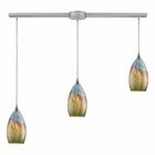 ELK Geologic 3-Light Pendant in Satin Nickel EK-10077-3L