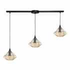 ELK Geometrics 3 Light Pendant in Oil Rubbed Bronze EK-10450-3L