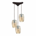 ELK Geometrics 3 Light Pendant in Oil Rubbed Bronze EK-10451-3