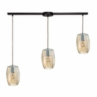 ELK Geometrics 3 Light Pendant in Oil Rubbed Bronze EK-10451-3L