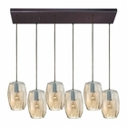 ELK Geometrics 6 Light Pendant in Oil Rubbed Bronze EK-10451-6RC