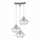 ELK Geometrics  Light Pendant in Polished Chrome EK-10440-3