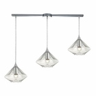ELK Geometrics  Light Pendant in Polished Chrome EK-10440-3L