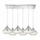 ELK Geometrics  Light Pendant in Polished Chrome EK-10440-6RC