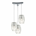 ELK Geometrics  Light Pendant in Polished Chrome EK-10441-3
