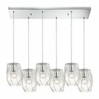 ELK Geometrics  Light Pendant in Polished Chrome EK-10441-6RC