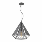 ELK Geoweb 1 Light Pendant in Urban Concrete EK-14273-1
