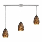 ELK Geval 3 Light Pendant in Satin Nickel EK-10253-3L-BC