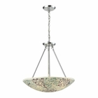 ELK Glass Mosaic 4 Light Pendant in Polished Chrome EK-10420-4