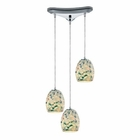 ELK Glass Mosaic  Light Pendant in Polished Chrome EK-10419-3