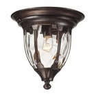 ELK Glendale 1 Light Outdoor Flush Mount in Regal Bronze EK-45004-1