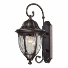 ELK Glendale 1 Light Outdoor Sconce in Regal Bronze EK-45003-1