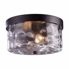 ELK Grand Aisle 2-Light Outdoor Flush Mount in Hazelnut Bronze EK-42253-2