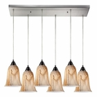 ELK Granite 6 Light Pendant in Satin Nickel EK-31138-6RC