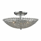 ELK Hammond 3 Light Semi Flush in Polished Chrome EK-10481-3