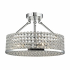 ELK Hammond 4 Light Semi Flush in Polished Chrome EK-10482-4