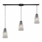 ELK Hand Formed Glass 3 Light Pendant in Oil Rubbed Bronze EK-10437-3L