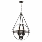 ELK Hemispheres  Collection 4 Light Pendant in Oil Rubbed Bronze EK-10392-4